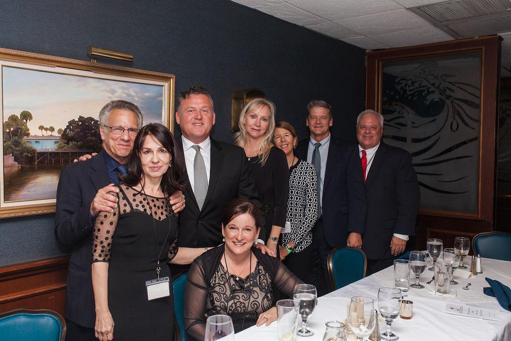 Back - Michael Kahn, Jim Vickaryous, Hon. Morgan Reinman, Jill Trettis, Blaise Trettis, Hon. John Galluzzo; Front - Roma Molinaro Jen Ferguson